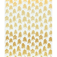 White & Gold Painted Trees Printed Backdrop