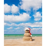 Sandy the Snowman Printed Backdrop