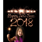 New Year Sparkler Printed Backdrop