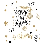 Cheers to the New Year Printed Backdrop