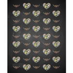 Chalkboard Hearts Printed Backdrop