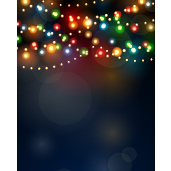 Twinkle Lights Printed Backdrop