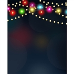 Holiday Lights Strings Printed Backdrop