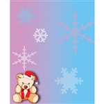 Holiday Bear Printed Backdrop