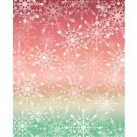 Sunset Snowflake Printed Backdrop