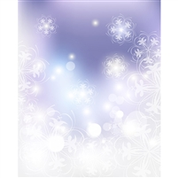 Tranquil Snowflake Printed Backdrop