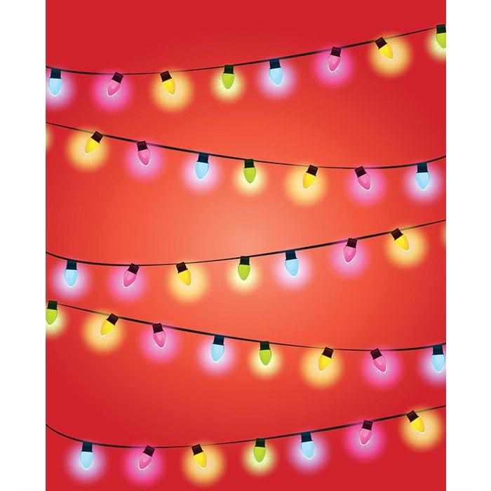 Alternative Views: - Light Strands Printed Backdrop Backdrop Express