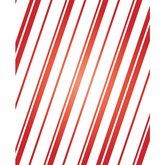 Red Candycane Printed Backdrop