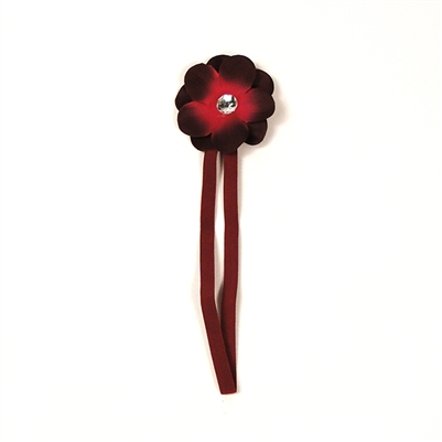 Burgundy Cherry Blossom Headband