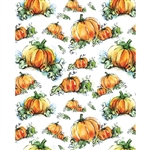 Watercolor Pumpkins Printed Backdrop