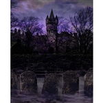 Mysterious Cemetery Printed Backdrop