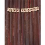 Give Thanks Banner Printed Backdrop
