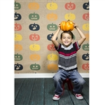 Fall Jack O'Lanterns Printed Backdrop