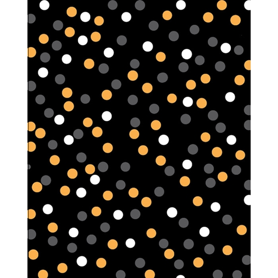 Halloween Polka Dots Printed Backdrop