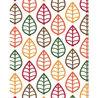 Loose Leaves Printed Backdrop