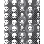 Skulls Planks Printed Backdrop