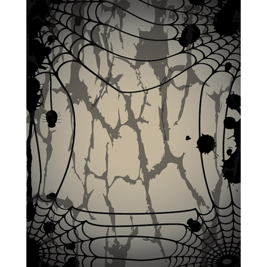 Creepy Spider Webs Printed Backdrop