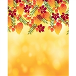 Bokeh Autumn Leaves Printed Backdrop