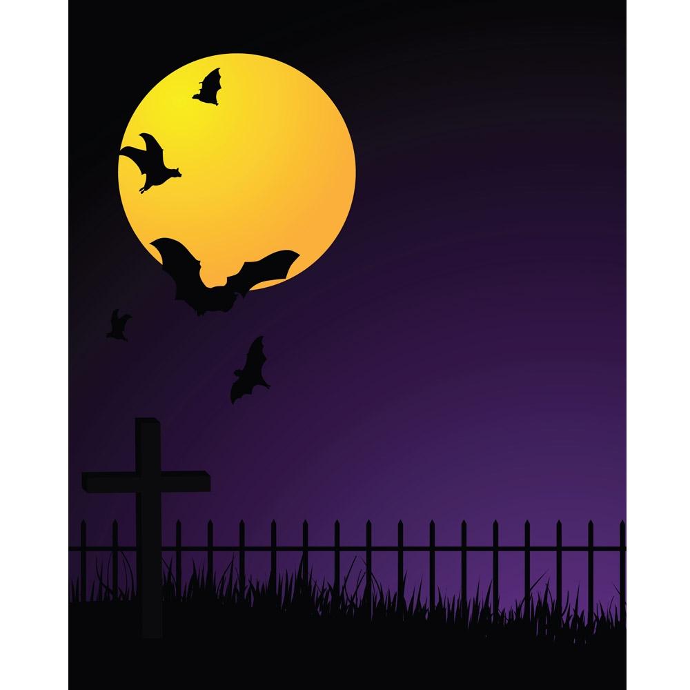 halloween night printed backdrop