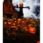 Haunted Pumpkin Patch Printed Backdrop