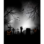 The Night Before Halloween Printed Backdrop