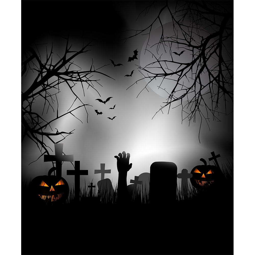 The Night Before Halloween Printed Backdrop | Backdrop Express