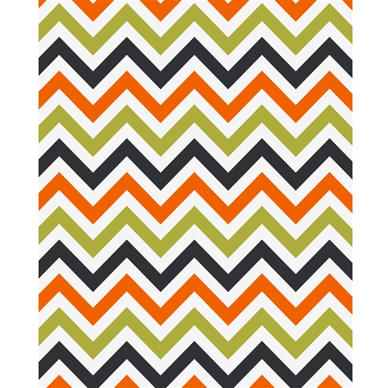 Autumn Chevron Printed Backdrop
