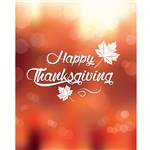 Thanksgiving Bokeh Printed Backdrop