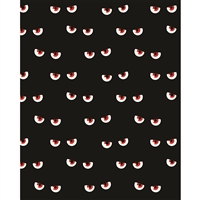 Evil Eyes Printed Backdrop