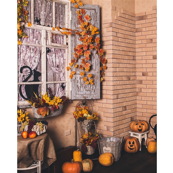 Halloween Porch Printed Backdrop