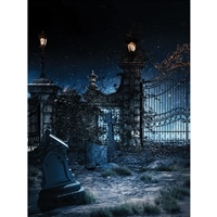 Cemetery Gate Printed Backdrop