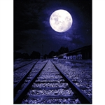 Moonlight Rail Road Printed Backdrop