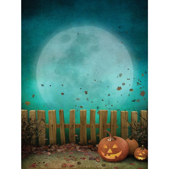 Moonlight Fence Printed Backdrop