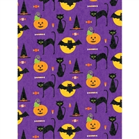 Cat, Bat, & Jack Printed Backdrop