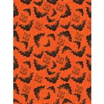 Trick or Treat Bat Printed Backdrop