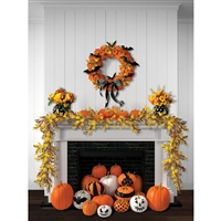 Halloween Hearth Printed Backdrop