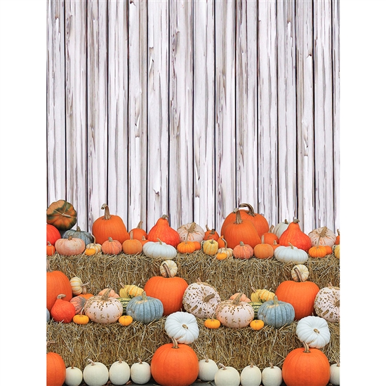 Pumpkin Fence Printed Backdrop