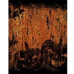 Corroded Pumpkin Printed Backdrop