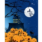 Cackling Jack O'Lanterns Printed Backdrop