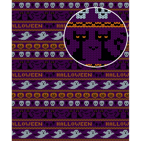 Halloween Sweater Printed Backdrop