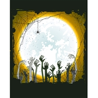 Zombie Land Printed Backdrop