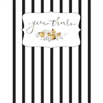 Give Thanks Striped Printed Backdrop