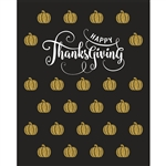Gold Thanksgiving Pumpkins Printed Backdrop