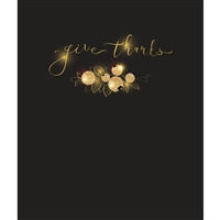 Give Thanks Black & Gold Printed Backdrop