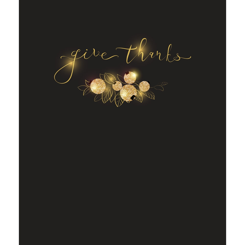 Give Thanks Black Amp Gold Printed Backdrop Backdrop Express