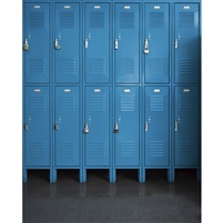 Blue Lockers Printed Backdrop