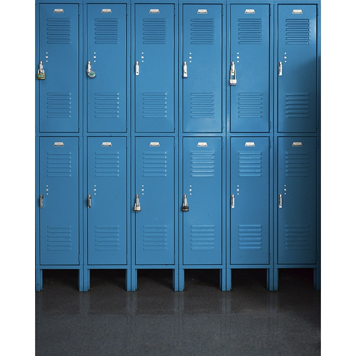 Blue Lockers Printed Backdrop | Backdrop Express on blue tools, blue printers, blue screens, blue folders, blue first aid, blue pallets, blue benches, blue containers, blue files, blue floors, blue bar, blue linen, blue mailboxes, blue signs, blue boxes, blue scales, blue library, blue cupboards, blue zebra, blue locks,