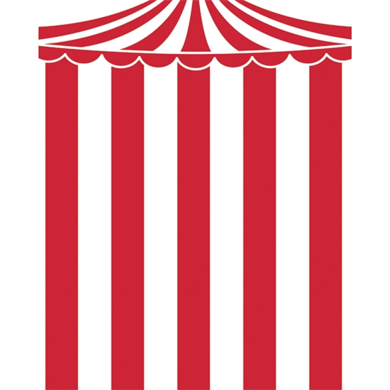 Circus Big Top Printed Backdrop