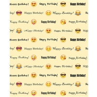 "Emoji ""Happy Birthday"" Printed Backdrop"
