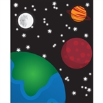 Space View Printed Backdrop